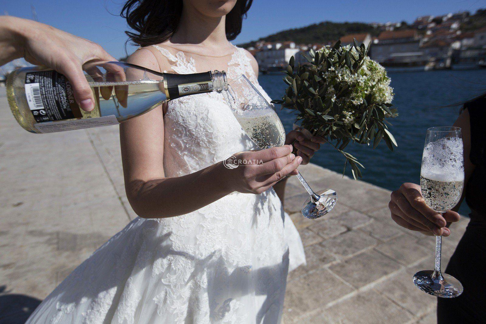 TROGIR - Wedding in the historical fortress