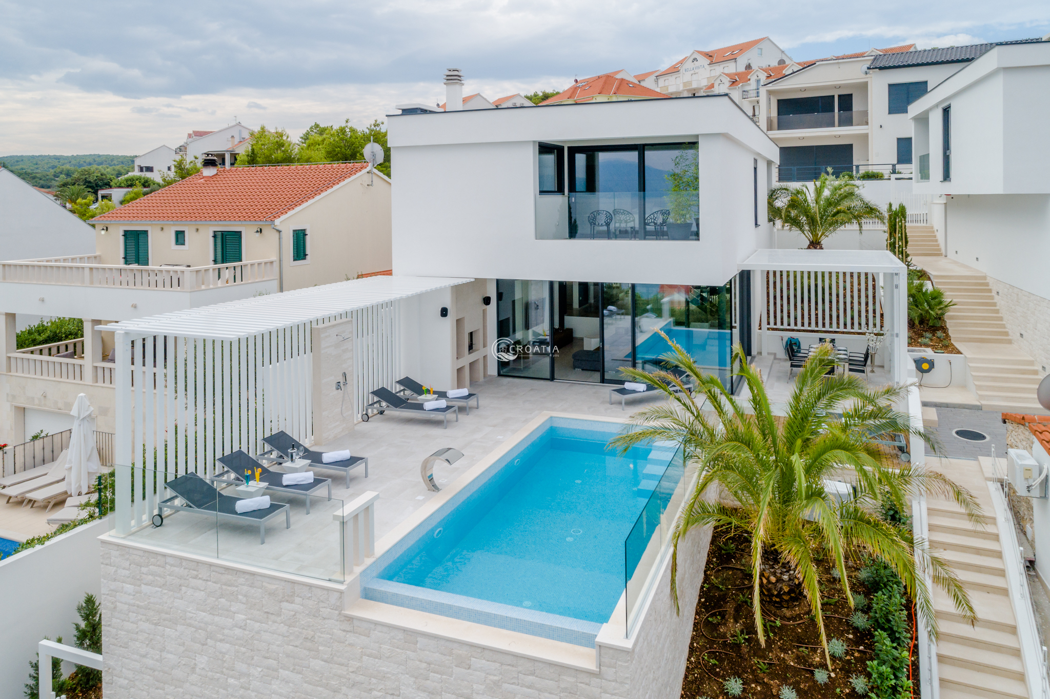 Newly built luxury villa P in Sutivan on island Brač