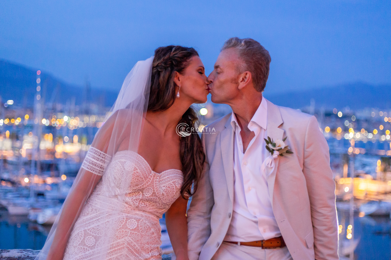 Wedding in restaurant with amazing view of town Split